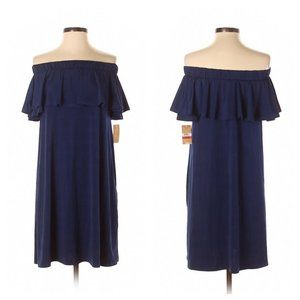 Rachel Roy Navy Blue Off Shoulder Dress Size XS